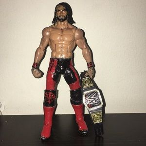 WWE ELITE HAND PAINTED SETH ROLLINS ACTION FIGURE